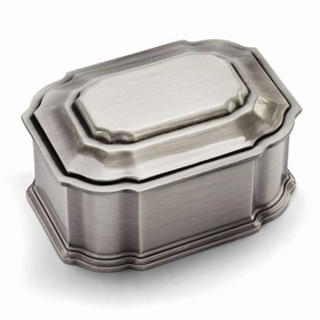 Pewter-tone Finish Jewelry Box - Engravable Personalized Gift Item