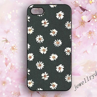 DAISY Phone 4s Case,90s Grunge iphone 5/5s,Daisy Pattern iphone 4,Hipster Bellis perennis,marguerite samsung galaxy s3 s4 s5 case,Girly Gift