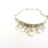 Silver Coin Choker, Belly Dance Jewelry,