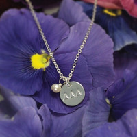Circle Tag Necklace - Tri Delta