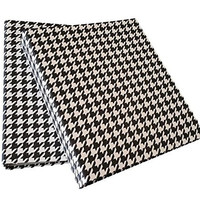 3 Ring Binder- Daily Planners, Organizer - Black Houndstooth Design Fabric - Set of 2 (1.5-inch, Black/White)