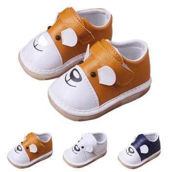 Newborn Baby shoes Infant Baby Boys Girls Cartoon Leather Single Shoes Casual Flats Sh