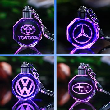 Famous or Custom Car Logo Crystal Crafts With Changing Colorful LED Light