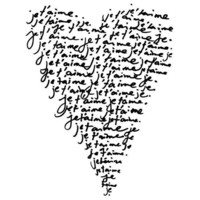 Je T'Aime I Love You Romantic French Print in by theloveshop
