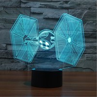 3D Tie Fighter Star Wars Lamp
