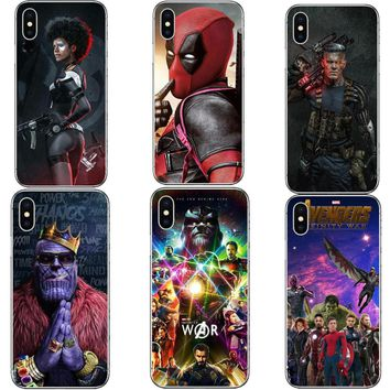 Funny Deadpool 2 Marvel DC Super Hero Avengers Infinity War Phone Case Cover For iPhone X 10 5 5S SE 6 6SPlus 7 7Plus 8 8 Plus