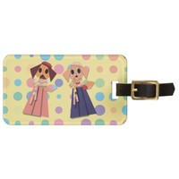 Origami colorful dog pattern bag tag