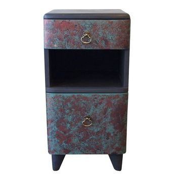 Pre-owned Art Deco Painted Side Table or Nightstand