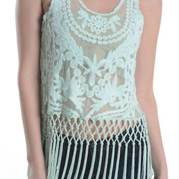 So Cream Sheer Top - White- FINAL SALE