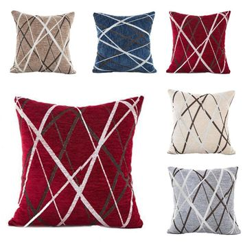 2018 new arrival Stylish Simplicity Polyester Throw Pillow Cover Home Decor cojines decorativos