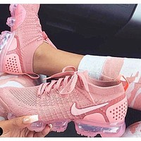 Nike Air Vapormax Flyknit 2.0 Rose Pink Fashion Women Casual Air Cushion Sport Shoes Sneaker