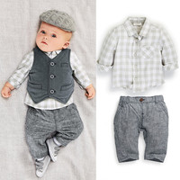 Autumn baby suit gentleman boys clothing set