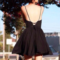 Fashion Cross suspender dress