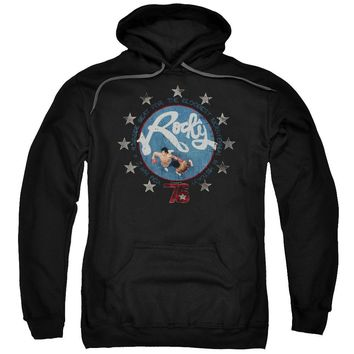 Rocky Hoodie Balboa and Creed in the Ring Black Hoody