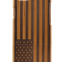 Wooden American Flag iPhone 6 Case