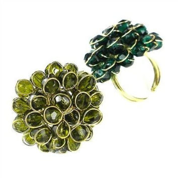 Olive Chrysanthemum Ring - WorldFinds