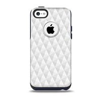 The White Studded Seamless Pattern Skin for the iPhone 5c OtterBox Commuter Case