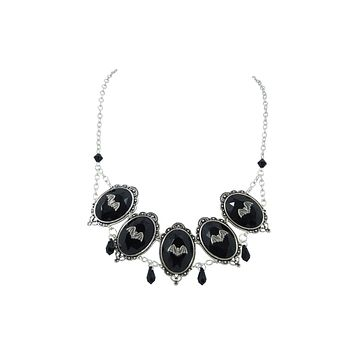 Gothic Queen - Royal Gothic Black Jeweled Statement Necklace