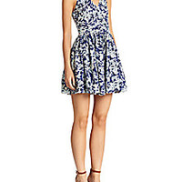 Elle Sasson - Flounder Abstract-Print Cotton Dress - Saks Fifth Avenue Mobile