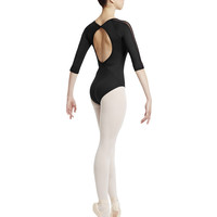 Stretch Lace 3/4 Sleeve Leotard