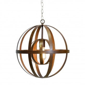 Pemble Oxidized Sphere Chandelier