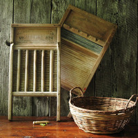 Antique Wooden Wash Boards, National Washboard Co.