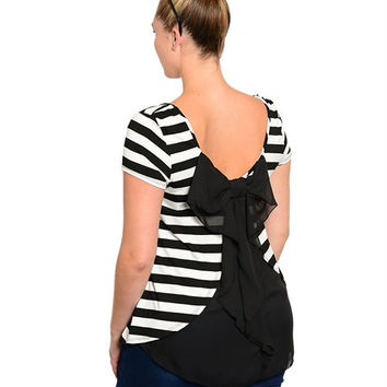 Tied With Love Striped Blouse