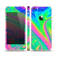 The Neon Color Fushion V3 Skin Set for the Apple iPhone 5s
