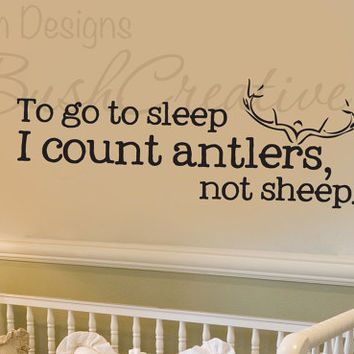 Wall Decals Nursery Hunting Deer Baby Humor 001-22""