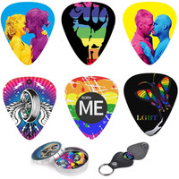 Gay Pride LGBT Cool Guitar Picks Set Of  Amazing Designs, Keychain Pick Holder,Perfect Gift and deal