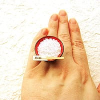 Bowl Of Rice With Chopsticks Ring by SouZouCreations on Etsy