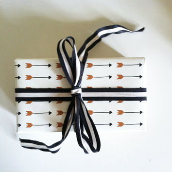 """Wrapping Paper // Falling Arrows Print // Each roll 26""""X36"""""""