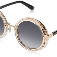 Gucci Women's Crystal Red Sunglasses with Brown Lens