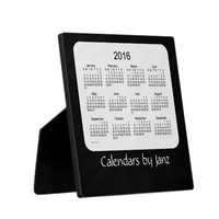 2016 Desk Calendar Black 5.25 x 5.25 with Easel Plaques