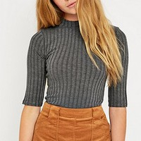 Urban Outfitters Half-Sleeve Crew Neck Bodycon Top - Urban Outfitters
