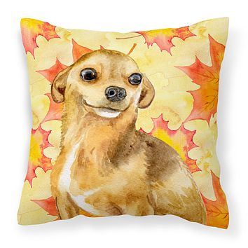 Chihuahua Fall Fabric Decorative Pillow BB9919PW1414