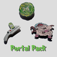 Portal Pack – Rick & Morty Numbered Pin Set
