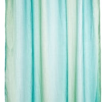 Nelly's Bath Collection Ombre Shower Curtain Aqua Sea Sparkles
