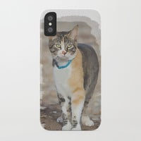 CALICO CAT WATERCOLOR iPhone Case by digitaleffects