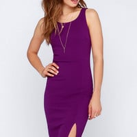 LULUS Exclusive Sweet Nothings Purple Midi Dress
