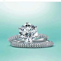 Tiffany Extravagant double row of three carat rings Womens 2018 New Serpenti ring AAAA diamond drill hollowed out 18 K gold