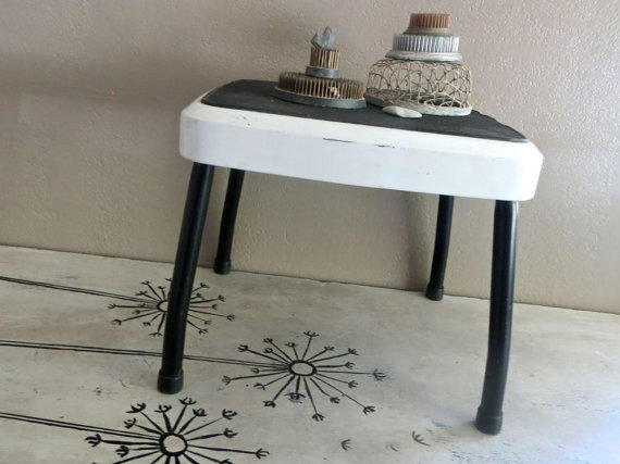 Vintage Stylaire Step Stool Black And From