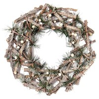 Holiday 12'' Twig Pine Wreath