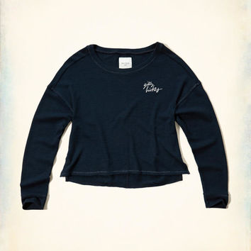 Girls Gilly Hicks Embroidered Logo Graphic Sweatshirt | Girls Intimates & Sleep | HollisterCo.com