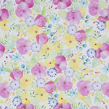 Floral Any-Occassion Gift Wrap Wrapping Paper, Petals (8 Rolls 5ft x 30in)
