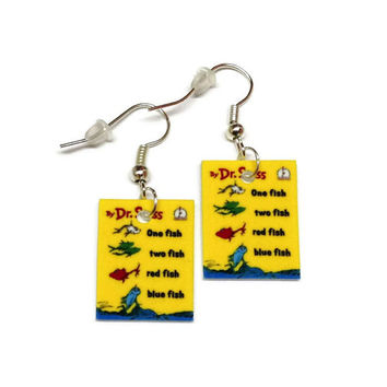 Dr. Seuss One Fish, Two Fish Earrings