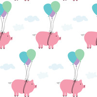 When Pigs Fly - heatherdoucette - Spoonflower
