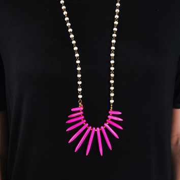 The Samantha Necklace - Hot Pink