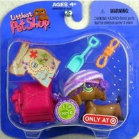 Littlest Pet Shop Daschund Pirate w/Accessories