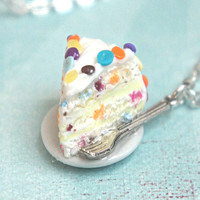 confetti cake necklace